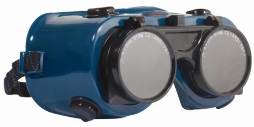 Revlux ECO láng hegesztő szemüveg 60821-es felhajtható kerek lencse, hőálló műanyag keret, pormentes szellőzőgombok