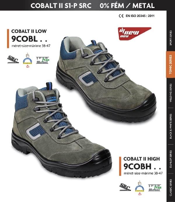 COBALT (S1P) kékesszürke hasítékbőr cipő LEP20 9COBL