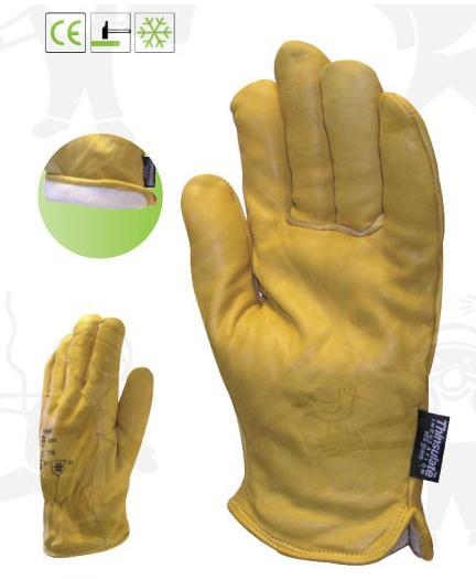 ALASZKA sárga borjúbőr, 3M polárbéléssel 2480-as védőkesztyű