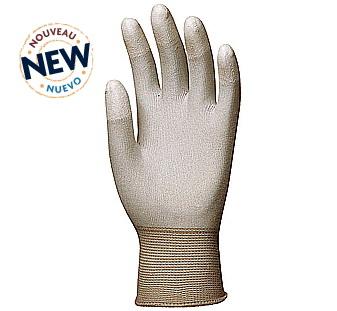 Antisztatikus ESD kesztyű, poliuretán ujjbeggyel 6177-80