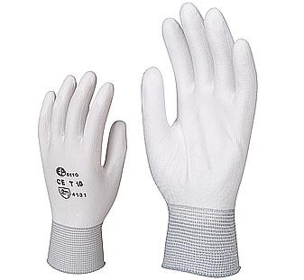 Vágás- és kopásálló 100% DyneemaŽ, poliuretán tenyérrel, fehér 6807-10