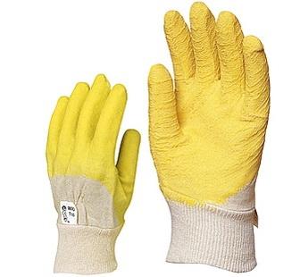 Sárga krepp latex vágásbiztos, 3800-as csúszásgátló, szellőző hátú