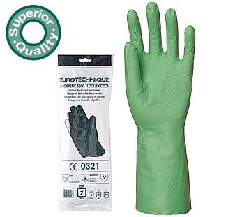 Nitril Super zöld vegyszerálló, 33 cm, vastagabb 5527-30 as