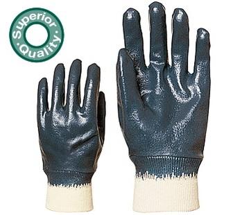 Eurolité kézháton is mártott kék nitril, gumis mandzsettával 9438-as