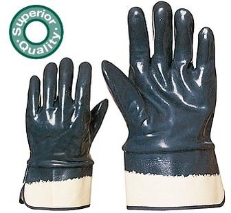 Herkules kétszer, kézháton is mártott kék nitril, merev mandzsetta 9649-50