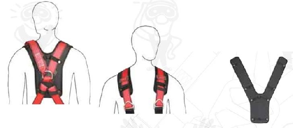 Váll- és háthevederekre csatolható, komfortos szivacsbetét APS1-es