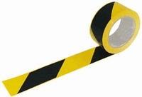 Öntapadós jelzőszalag, 5cm x 66m, sárga-fekete 70020