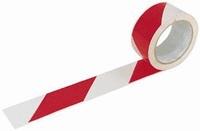 Öntapadós jelzőszalag, 5cm x 66m, piros-fehér 70030