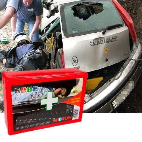 Elsősegély felszerelés, mentőláda, mentődoboz személygépkocsihoz (B) 9996-os
