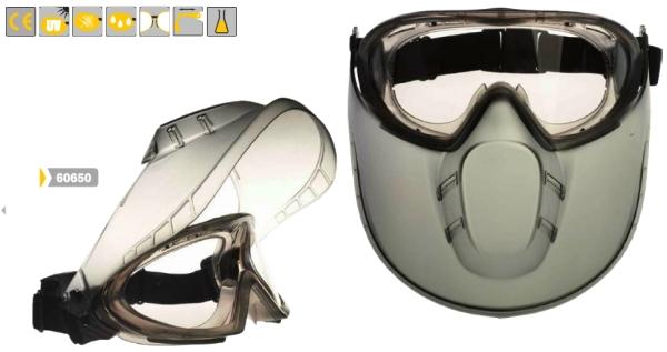 Stormlux, gumipántos, páramentes védőszemüveg arcvédővel 60650