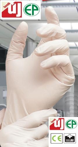 Egyszerhasználatos latex púderezett kesztyű (orvosi vizsgáló) 5806B-12B