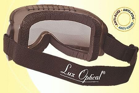 Lux Optical munkavédelmi vegyszerálló, gumipántos szemüveg HUBLUX színezett lencsével 60663-as