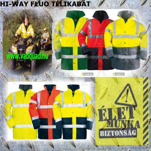 Coverguard jól láthatósági munkaruha FLUO TÉLIKABÁT többféle színben 70410-494