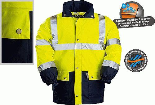 Coverguard jól láthatósági munkaruha FLUO PU ESŐKABÁT 70310-33