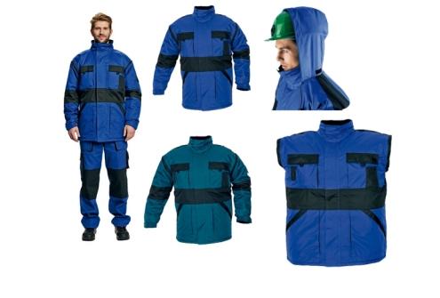 MAX téli meleg béléses kabát  zöld/fekete, kék/fekete c0301021918004
