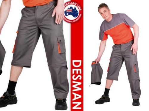 DESMAN nadrág 2 egyben - lecipzározható szárú nadrág és sort, bermuda egyben.