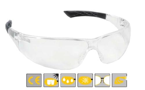 Spherlux víztiszta, páramentes lencse, extra könnyű védőszemüveg