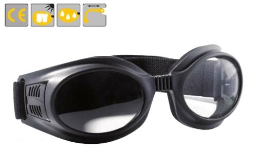 Spidlux gumipántos védőszemüveg víztiszta lencsével