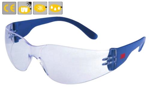 Classic, szemüvegcsalád, karc- és páramentes polikarbonát lencse, oldalvédős kék szár