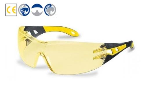 sárga/fekete szár, körkörösen védő, karc- és páramentes sárga lencse (HC-AF)