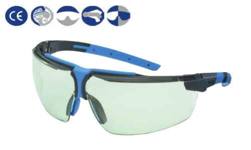 I3 Uvex szemüveg (U9190850)antracit/kék keret, állítható szár, karc-, páramentes uvex variomatic bevonatú lencse