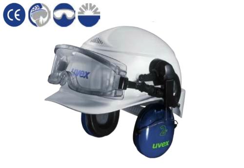 uvex sisakra adapterrel vagy fültokkal szerelhető Ultravision szemüveg