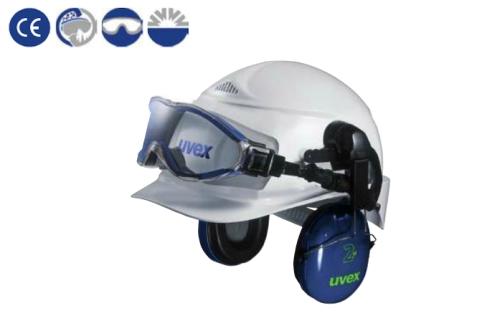 uvex sisakra adapterrel vagy fültokkal szerelhető Ultrasonic szemüveg