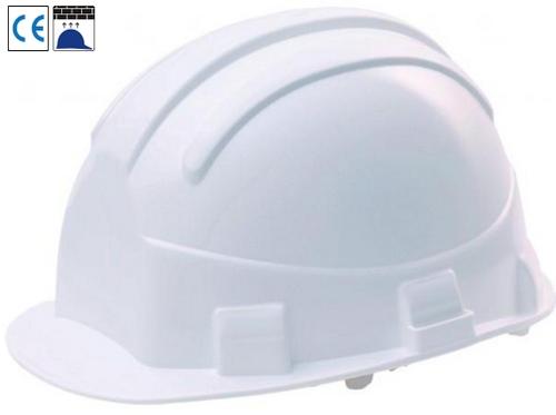 Opal szigetelő védősisak (440V), HDPE sisakhéj, rövid sildes magasban történő munkákra.
