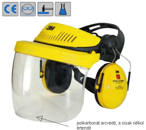 3M 5F-1 polikarbonát arcvédő, 1,5 mm vastag, mindkét oldalapáramentes