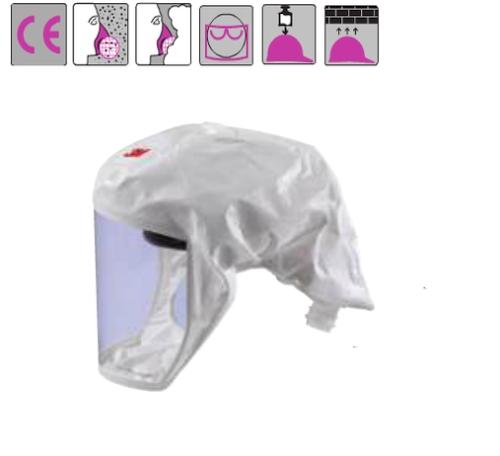 könnyű arcvédős csuklya, fehér S/M vagy M/L méret (HT-101 helyett)