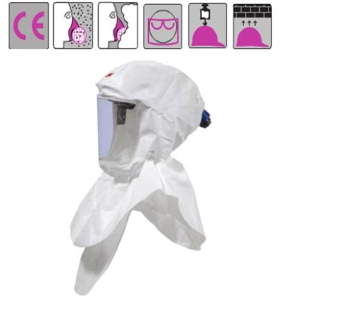 pp kámzsa dupla belső gallérral, újrahasználható fejkeret, cserélhető külső