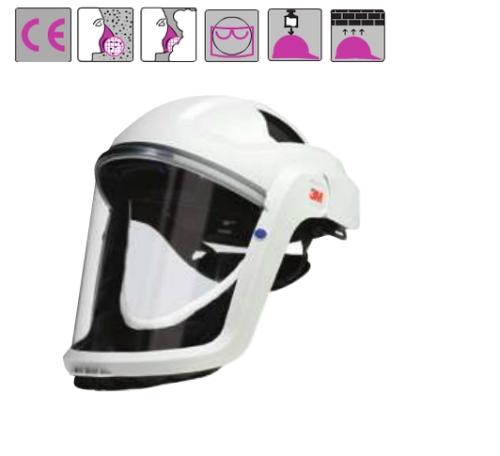 szilárd, állítható fejkeret, arcvédő por, permet, vegyszer elleni szigeteléssel