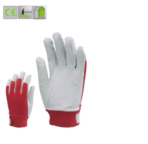Puha színsertés, piros vászon kézhát, elasztikus, állítható csuklórész,