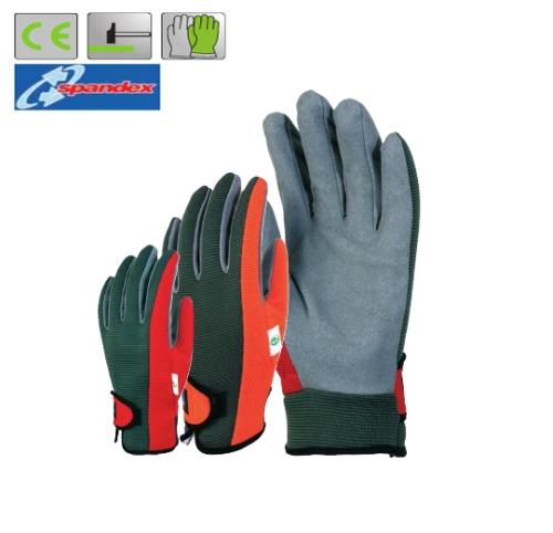 Mikroszálas szürke poliamid tenyér, rugalmas Spandex/poliészter kézhát, tépőzáras mandzsetta