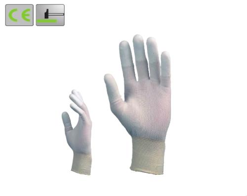 Szerelőkesztyű poliuretán ujjbeggyel . . .  méretek:  9 (6159),  10 (6160)
