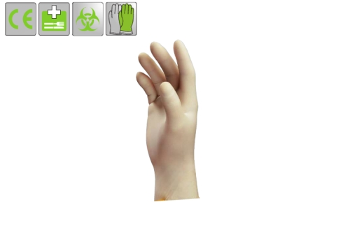 Uvex U-Fit Latex fehér egyszerhasználatos szilikon- és púdermentes mikroorg. ellen 0,12 mm / 24 cm