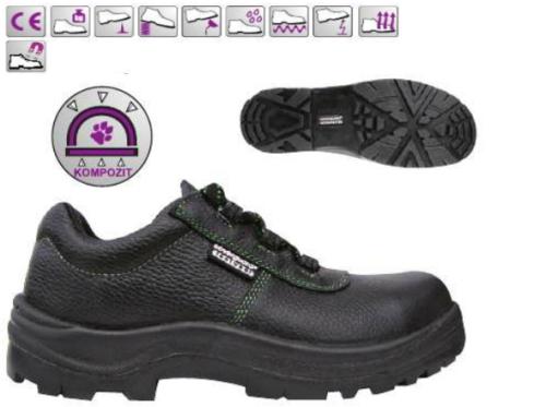 AMBER (S3 CK) bőr cipő (9AMBL), kompozit orrmerevítővel és talplemezzel, fémmentes***KIFUTÓ***