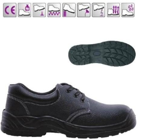 MIXITE (S1) 9MIXL40 fekete bőr cipő és bakancs, acél lábujjvédővel