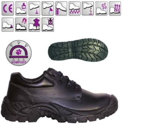 MOGANITE (S3 CK) fekete vízlepergető színbőr cipő és bakancs, kompozit, CambrelleŽ betét