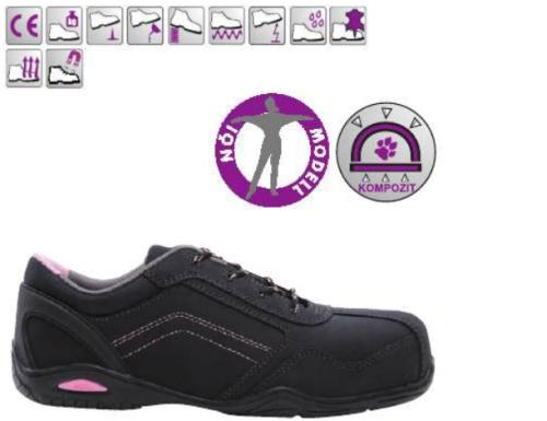 RUBIS (S3 CK) fekete nubuk cipő és bakancs, kompozit, fémmentes, saroktámasz, páraáteresztő