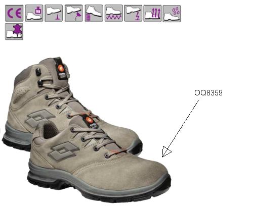 SPRINT (S3) szürke velúrbőr védőcipő, acél orrmerevítő, kompozit talp, dupla fűző