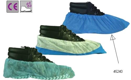 Gumis nylon cipővédő, kék                              100 db/ doboz