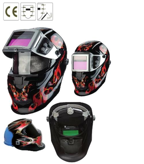 Tiger Top polikarbonát arcvédő + felhajtható automata kazetta,  9-13 fokozat, fény + lítium elem
