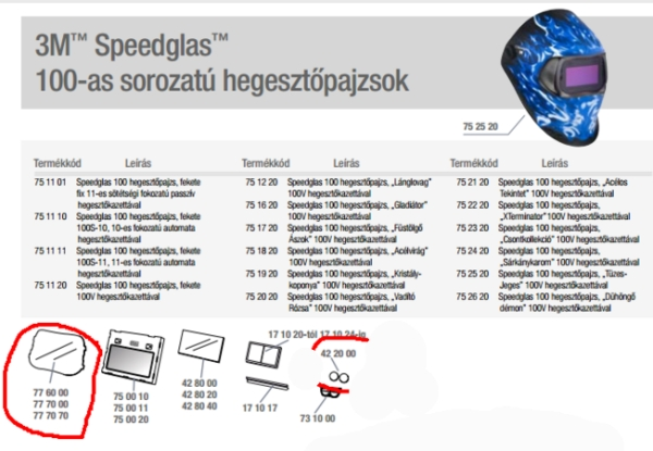 Külső védőlemez SpeedglasTM 100 hegesztőpajzsokhoz  /10db