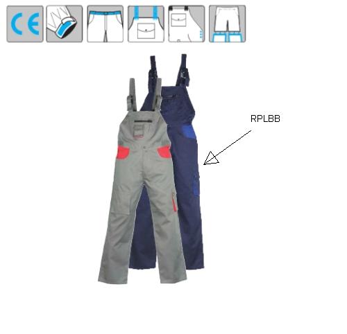 Kertésznadrág állítható vállpánt, oldalgombos gumizott derék, 9 zseb 8PLBB36-38