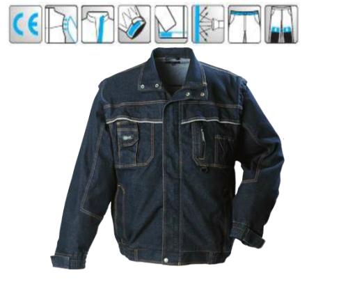Kabát levehető ujjakkal, dzseki fazon, rejtett húzózár, 8 zseb, fényvisszaverő díszcsíkok