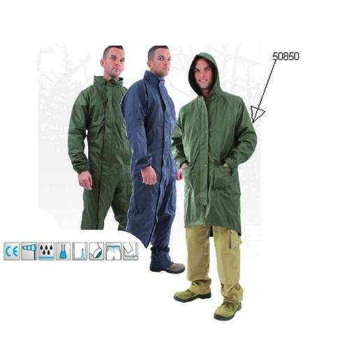 Hajlékony poliuretán esőkabát, zöld, 170 g/m2 könnyű, varrott plusz hegesztett, szellőző