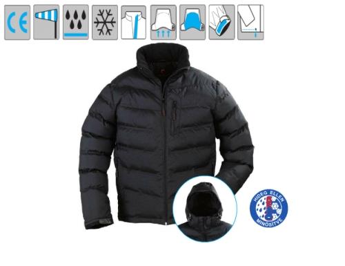 NORSK 5NORSXL fekete steppelt vízhatlanított és szélálló kabát thermo béléssel, kopásálló Taslan poliamid