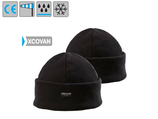 Cover hat fekete polársapka, 280 g/m2, puha, hőszigetelő anyag