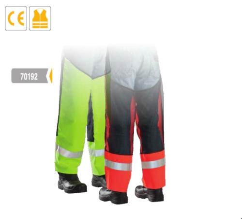 Wash lábszárvédő, sárga szín, fényvisszaverő csíkok, hátulhálós, szellőző anyag, fűkaszálához